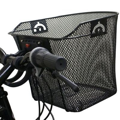 Bicycle/bike/cycle Handlebar Metal Shopping Basket With Carry Handle