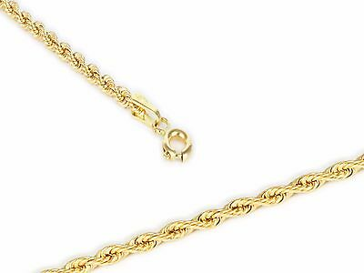 Girocollo in Oro 18 KT (750). Gold Chain Necklace Braid Rope, Collier Italy