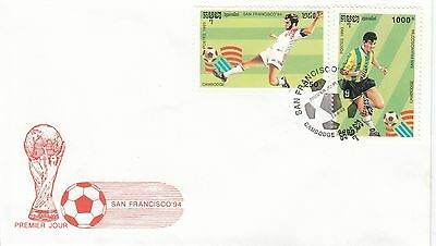 (41494) CLEARANCE Cambodia FDC  Football World Cup San Francisco 23 Sept 1993