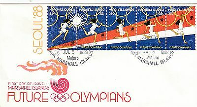 (41495) CLEARANCE FDC Marshall Islands Future Olympians 5 July 1998