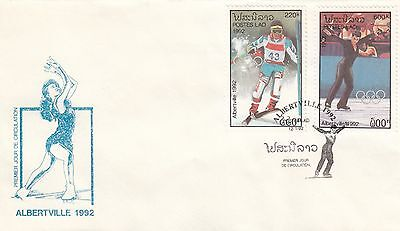 (41561) CLEARANCE Laos FDC Winter Olympics Albertville 1992
