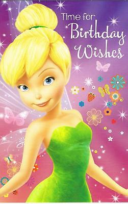 Disney Fairies Tinkerbell Time For Birthday Wishes Card New Gift