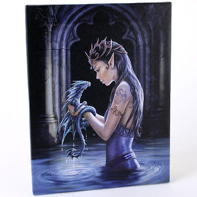 Fantasy Gothic Art Canvas Wall Plaque~Water Dragon~ Anne Stokes~C~uk seller