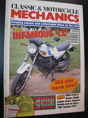 "Motorcycle Mechanics #75 February 1994 o.a. the infamous ""LC"" (Yamaha RD350LC)"