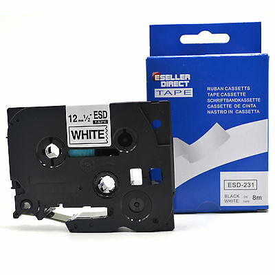 1 to 20 Brother P-touch Compatible TZ231 TZe231 Label Tape, 12mm x 8m
