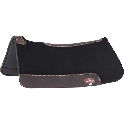 Classic Equine Contourpedic Western Saddle Pad 31 x 32 Inch Black Horse Tack