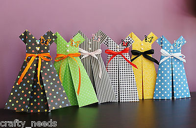 Origami Paper RETRO  DRESS for Table Toppers, Baby Shower, Party, Wedding