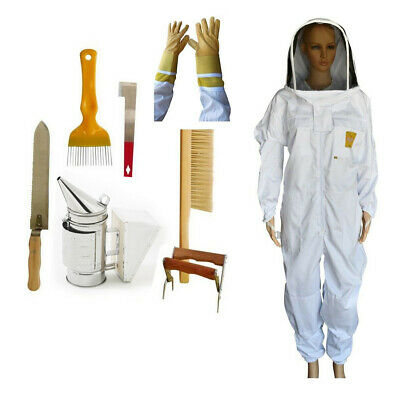 Oz Apiarist Beekeeping  Suit Heavy Duty Gloves With Starter Kit
