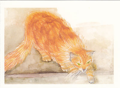 (41659) Postcard Cats Ginger Chloe - Post Office issued 1995