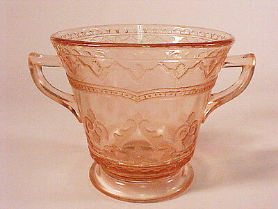 Pink Patrician / Spoke  Footed Sugar  / Federal Glass Co.