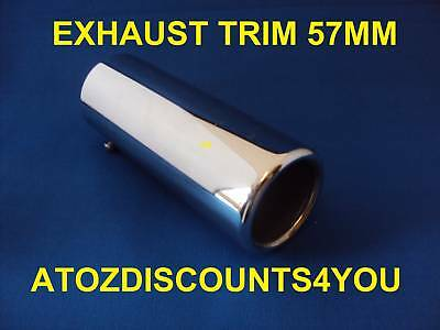 Universal Chrome Exhaust 57MM STRAIGHT Tail Pipe Trim