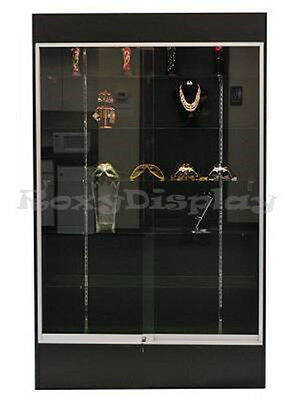 Black Color Wall Display Case KNOCKED DOWN Showcase #SC-WC4B