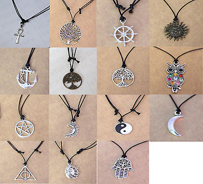 Pentacle With 14 Style # Retail Vintage Tibetan Silver Necklace Bulk available
