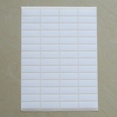 56 Small White Sticky Labels 13x38 mm Price Stickers, Tags, Blank, Self Adhesive