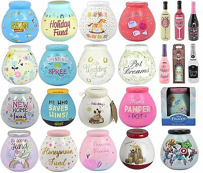 Pot Of Dreams Money Box Savings Funds Gift - Break To Open - Various Designs