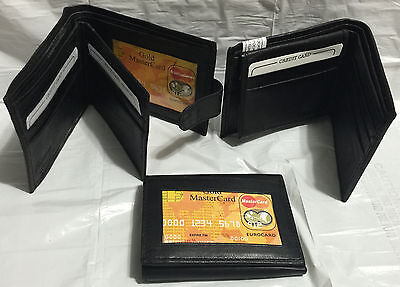 New Men Quality Leather Bifold / Trifold Wallets Lot of 3 wallets Super deal