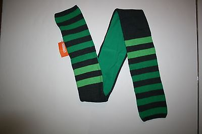 New Gymboree Boy Gray Green Striped Scarf Winter One Size Ice All-Star