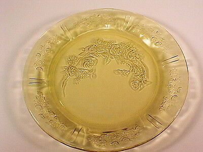 Vintage Amber Sharon - Cabbage Rose Dinner Plate / 5 Available / Federal Glass