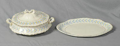 Radisson W. S. George Porcelain Serving Bowl With Lid Cover & Oval Platter