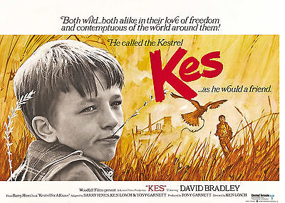 """"""" KES""""..  Classic Drama Movie Poster A1A2A3A4Sizes"""