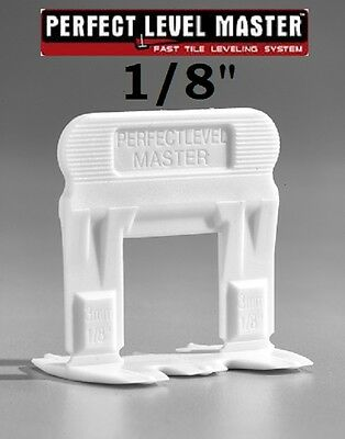 "1/8"" PERFECT LEVEL MASTER™  T-Lock ™  Tile leveling system wall & floor spacers"