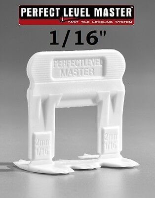 "1/16"" PERFECT LEVEL MASTER™   T-Lock ™  Tile leveling system wall floor spacers"