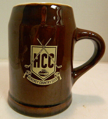 """Vintage Hershey Country Club Hall Pottery Stein 5"""" x 3.75"""" Excellent Condition"""