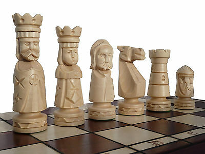 AMAZING WOODEN CHESS SET ''CASTLE DELUX'' 50x50 cm - EVERY PIECE HAND CARVED!!!