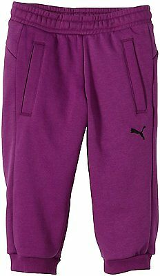 Puma Girls 3/4 Sweat Pants Purple size UK 30 US XL Fleece