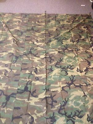 """Woodland Field Tarp  NEW 80""""X90"""" Shelter, Gear Cover . Made in the USA. Military"""