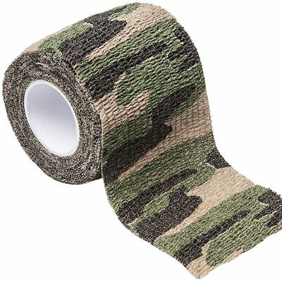 Camouflage Camo Tape 5cm x 4.5m Rifle Wrap Fabric Gun Hunting Stealth