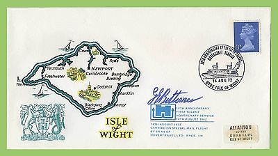 GB 1972 10th Anniv of 1st Solent Hovercraft Commemorative Signed Flight Cover