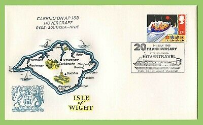 GB 1985 20th Anniversary of Ryde Southsea Hovertravel on IOW Commem Flight Cover