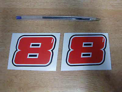 2 off GUY MARTIN race number 8 decal/sticker- 70mm x 50mm  // 2015 BMW Tyco