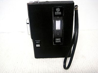 Vintage GE General Electric Compact Cassette Recorder-Made in Japan-Works!!