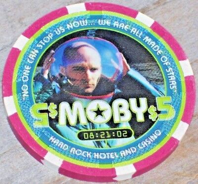 $5 MOBY 2003 GAMING CHIP  FROM THE HARD ROCK CASINO LAS VEGAS
