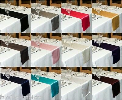 SATIN TABLE RUNNER  280 cm Long x 22 cm Wide VARIOUS COLOURS