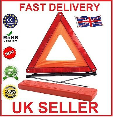 Large Warning Car Triangle Reflective Road Emergency Breakdown Safety Hazard.