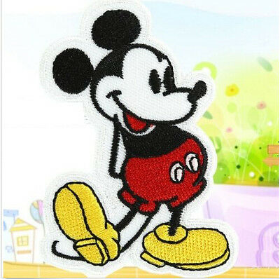 FD1315 Cute Cartoon Mouse Embroidery Cloth Iron On Patch Sew Motif Applique ~1PC
