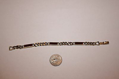 Vintage Avon Gold-Tone Metal Link with Brownish Red Accent Bracelet