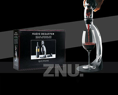 2015-New Pro Decanter Essential Red Wine Aerator Set ABS&SILICONE