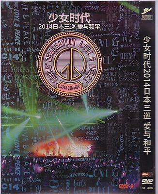 GIRLS GENERATION Love and Peace 2014 Live Concert Japan 3rd Tour Kpop DVD  ckm