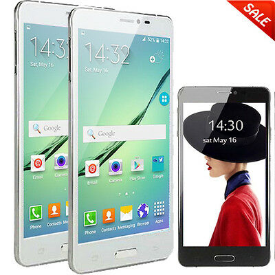 5.5'' Android ROM 4GB Unlocked 3G/WCDMA/GSM 2Sim 2Core Smart Cellphone GPS AT&T