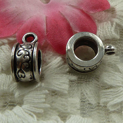 free ship 180 pieces Antique silver nice bail charms 13x10mm #3768