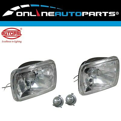 Crystal H4 Headlight Upgrade Kit Hilux Ute 2x H4 60/55w Halogen Lamps Rectangle