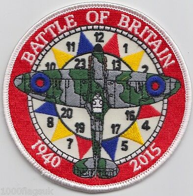 Spitfire Battle of Britain Memorial Embroidered Crest Badge Patch MOD Approved