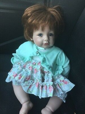 """Adora 18"""" Girl Baby Doll. Brunette With Blue Eyes W/ Party Dress"""