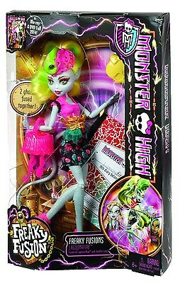 New Monster High Freaky Fusion Lagoonafire Doll & Accessories Free Shipping