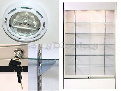 White Color Wall Display Case KNOCKED DOWN Showcase #SC-WC4W