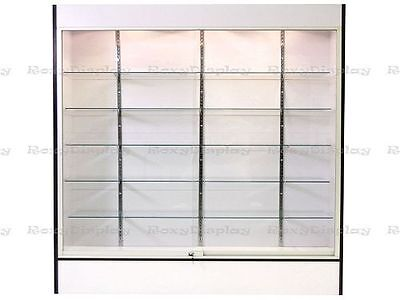 White Color Wall Display Case KNOCKED DOWN Showcase #SC-WC6W